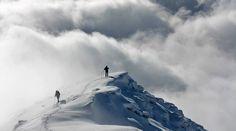 Vyhľad na Baranec v zime, západné tatry