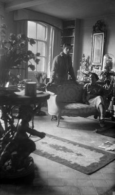 Rex Whistler and Edith Oliver, Ashcombe House, Wiltshire [Cecil Beaton].