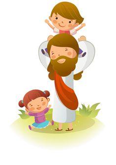 Resultado de imagen de jesús ayudando a un niño