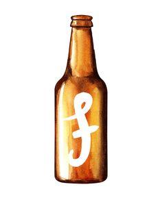 Items similar to Custom Monogrammed Beer Bottle Print on Etsy Gifts For Beer Lovers, Hot Sauce Bottles, Beer Bottle, Knowledge, Monogram, Babies, Vintage, Etsy, Babys