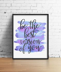 Violet aquarelle Art cite motivationnelle par SamsSimpleDecor