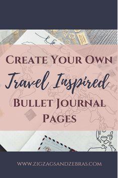 Bullet Journal Travel Page, Travel Collection, Travel Journal Bullet Journal Weekly Layout, Bullet Journal Travel, Bullet Journal Spread, Travel Journals, Bullet Journals, Planner Tips, Travel Planner, Scrapbook Journal, Diy Scrapbook