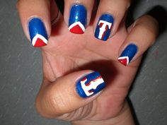 Oh Me! Oh My!: Texas Rangers Mani