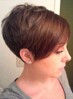 Pixie Haircut With Long Bangs Short Hair Updo, Cute Hairstyles For Short Hair, Long Curly Hair, Curly Hair Styles, Tousled Hair, Long Haircuts, Pixie Haircuts, Pixie Cut Long Bangs, Short Hair Cuts