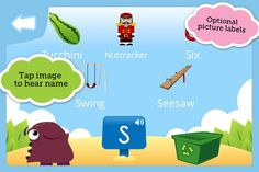 Letter Muncher ($1.99) will help your child build vocabulary while mastering the essential skills of identifying initial consonant sounds and the letter or letters that represent them.  In each round, the player is asked to choose which of five items should be fed to the hungry Letter Muncher and which go into the recycle bin. But be careful! This little monster is a picky eater and will munch only those things that begin with a given letter sound.