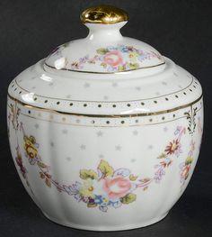 Rose Swag Sugar Bowl & Lid by Grace& Teaware . China Dinnerware, Tea Set, Tea Time, Swag, Entertaining, Sugar Bowls, Rose, Universe, Gardening