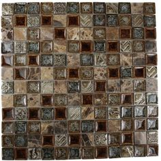 Splashback Tile Roman Selection Charred Chestnut 12 in. x 12 in. x 8 mm Glass Mosaic Floor and Wall Tile ROMAN SELECTION CHARRED CHESTNUT 1X1 at The Home Depot - Mobile