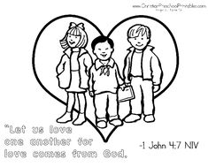 Valentines Day Bible Coloring Page Love the LORD your God with