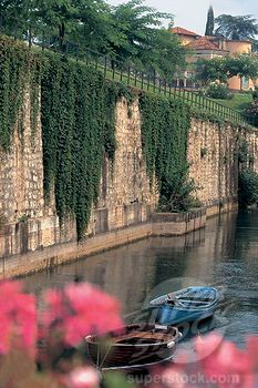 Fortress walls Pescheria del Garda, province of Verona , Veneto region Italy