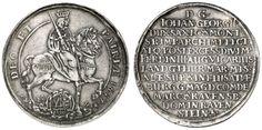 Johann Georg II., 1656-1680, thaler, 1657, Dresden, on the Vikariat, Aversum: antiperspirant ET - PATRIÆ 1657 -, the armored Elector bestrid...
