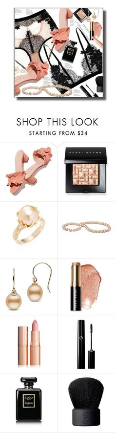 """""""Pretty Underpinnings"""" by marionmeyer ❤ liked on Polyvore featuring I.D. SARRIERI, Loeffler Randall, Bobbi Brown Cosmetics, Effy Jewelry, Chanel, NARS Cosmetics and prettyunderpinnings"""