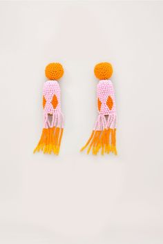 // Jelly Beaded Earrings