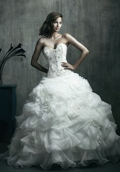 Ivory Sweetheart Ballgown | Allure Couture C170 | http://knot.ly/6497BtMMJ