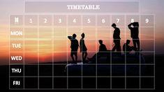 Bts Calendar, Bts School, Timetable Template, School Timetable, School Template, Kpop, Study Notes, Bts Wallpaper, Journal Ideas