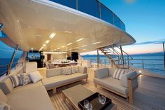 Petrus II - The full-height windows featured on the yacht's main and upper decks bring light into the interior decks and give the vessel a racier profile.