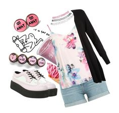 """Why is it hot outside?😕"" by kawaiireborn ❤ liked on Polyvore featuring Lime Crime, Paige Denim, Dorothy Perkins, T.U.K., Wet Seal and Monsoon"