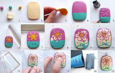 "Picture tute: ""Painted with mokume gane"" by vokade, #Polymer #Clay #Tutorials"