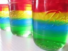 These jellos would be cute layers green and yellow for a John Deere party :)