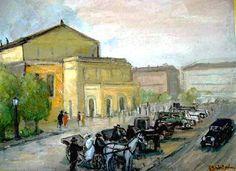 Andrei Branisteanu  - Sosire la Vechiul Teatru National Painting, Art, Painting Art, Paintings, Painted Canvas, Drawings