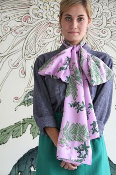 Amy Butler's Alchemy Studio Fabrics with a scarf from Colette Patterns