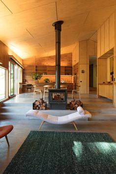 Shadow Cottage Daylesford is a Wood Story in Contrast to a Discrete Industrial Aesthetic – Freestanding fireplace wood burning Home Fireplace, Home, House Design, Fireplace Design, Wood Heater, New Homes, Wood Burning Stove, Cottage, Freestanding Fireplace