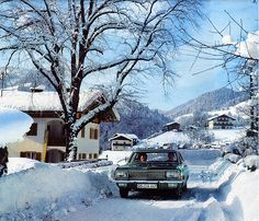 Winter magic1967 calendar - Opel Admiral  Location: Unken, Salzburgerland in Austria.