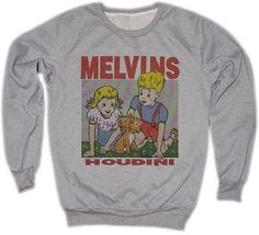 Melvins Buzz Osborne Houdini  Punk Rock and Roll Festival Retro VTG Jumper Sweater Sweatshirt Long Sleeve Crewneck Round neckline S M L