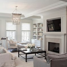 Elegant - transitional - family room - chicago - Leo Designs, LTD