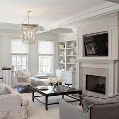 Elegant - transitional - family room - chicago - Leo Designs, LTD