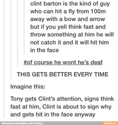 ~Clint's day-to-day life just seems so hard~