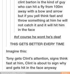 He's only deaf in one ear ppl gosh
