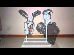 Hockey Equipment Drying Rack - SOOO doing this for my husband this weekend.