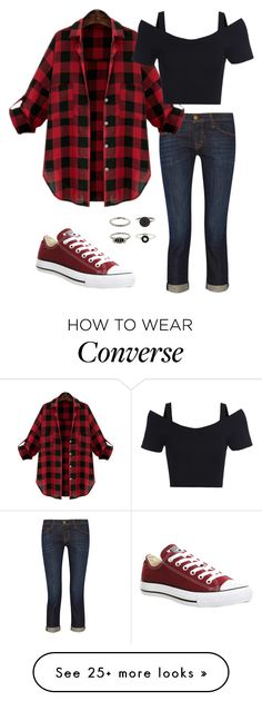 """"""";;Threat"""" by mackieescapedazkaban on Polyvore featuring moda, Current/Elliott y Converse"""