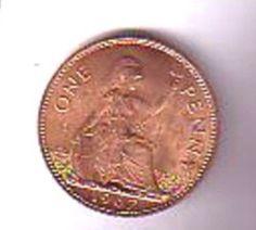 GB Elizabeth II Pre decimal One Penny Coin 1967 Mint condition