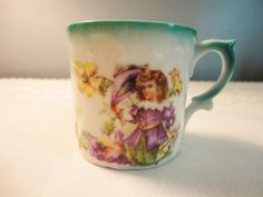 Antique Three Crowns China Child's Cup  For A by AllDressedUpHome