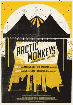 arctic monkeys poster...LOVED the show last night, and an awesome poster to match