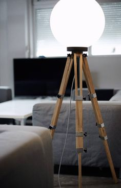 Floor Lamp, Interior Lamp, Modern Lamp, Led Lamp, Bulb Lamp images ideas from Home Inteior Ideas Industrial Floor Lamps, Modern Floor Lamps, Industrial Design, Modern Lighting, Lamp Bulb, Led Lamp, Bright Homes, Wooden Lamp, Tripod Lamp