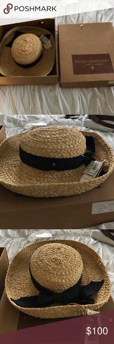 efb7178a Vintage Helen Kaminski straw hat and box New with tags and original box Helen  Kaminski straw hat Helen Kaminski Accessories Hats