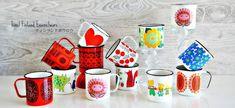 finel + arabia enamel mugs.