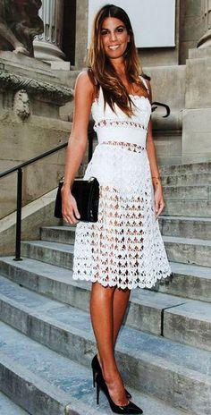 ДОЛЬЧЕ и ГАБАНА: Белое платье. Вязание крючком