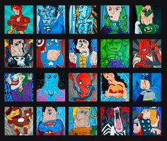 If Picasso had ever seen a superhero, this is probably how he would have pictured them