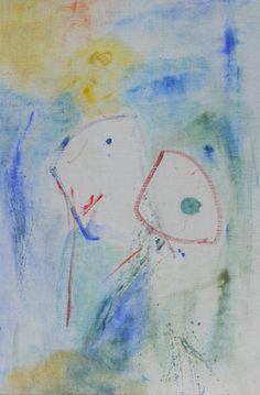 Les Deux.  huie sur toile, 80x60 cm.