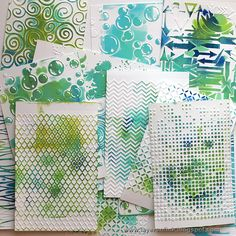 Sizzix Tutorial Use embossed cardstock to remove paint for mono prints. You get the print plus the colored cardstock for mixed media work.