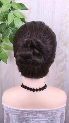 Hairdo For Long Hair, Cute Hairstyles For Medium Hair, Elegant Hairstyles, Up Hairstyles, Medium Hair Styles, Beautiful Hairstyles, Step By Step Hairstyles, Hair Style Vedio, Hairstyle Braid