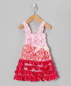 Loving this Whitney Elizabeth Pink Color Block Satin Ruffle Dress - Infant, Toddler & Girls on #zulily! #zulilyfinds
