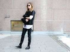 Outfit | Leather on leather