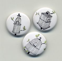 Cute little bird house pins.