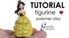 Belle chibi polymer clay tutorial Beauty & the Beast