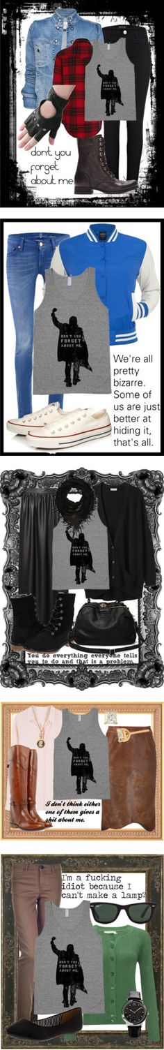 """""""Breakfast Club"""" by lieslzhenderson on Polyvore. I WANT DRESS AS ONE OF THE CHARACTERS"""