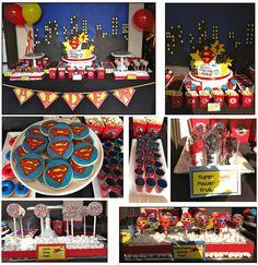 Superman+Party+Decorations | super oreo pops pow popcorn superman jello cupcakes superman cookies ...